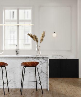 3万以下120平米三室两厅现代简约风格厨房图片大全