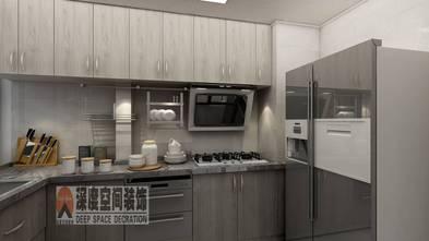 经济型80平米三室两厅现代简约风格厨房设计图