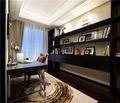 富裕型130平米三室两厅欧式风格书房欣赏图