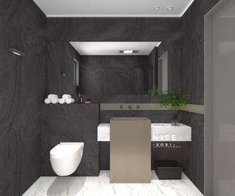 140平米现代简约风格卫生间图片