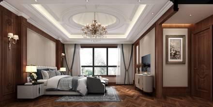 豪华型140平米别墅欧式风格卧室图