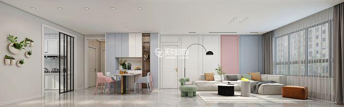 130平米三室一厅中式风格客厅设计图