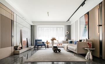富裕型140平米四现代简约风格客厅图