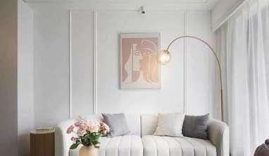 经济型90平米三室两厅法式风格客厅装修效果图