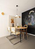 经济型110平米三室一厅田园风格餐厅装修案例