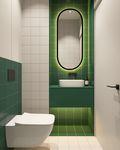 5-10万70平米一室一厅北欧风格卫生间效果图