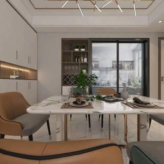 富裕型140平米四室四厅现代简约风格餐厅图片大全