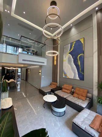 豪华型140平米别墅现代简约风格客厅效果图
