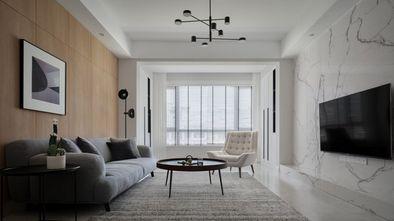 富裕型100平米三室一厅北欧风格客厅图片大全