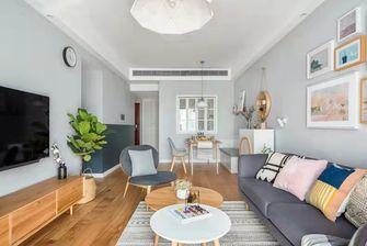 富裕型120平米三现代简约风格客厅图片
