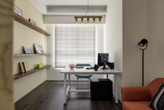 110平米三室两厅港式风格书房装修图片大全