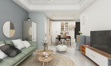 80平米北欧风格客厅装修案例