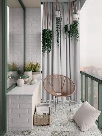 经济型30平米小户型北欧风格阳台设计图