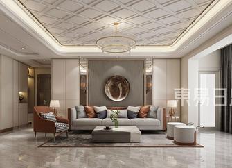 豪华型140平米四室三厅混搭风格客厅图片大全