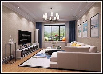 富裕型90平米北欧风格客厅装修图片大全
