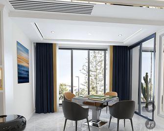 5-10万130平米三室两厅轻奢风格阳台图