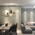 5-10万90平米三现代简约风格餐厅装修图片大全