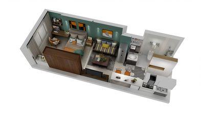 5-10万40平米小户型北欧风格客厅图