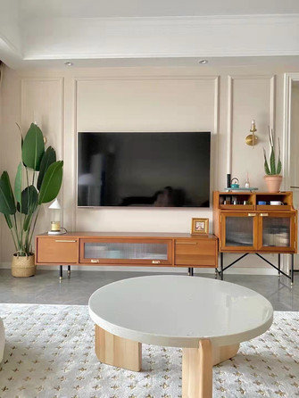 80平米复式地中海风格客厅图片大全