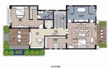 100平米三中式风格客厅图片