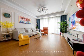 富裕型140平米三美式风格客厅图