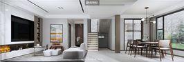 豪华型140平米别墅欧式风格客厅图