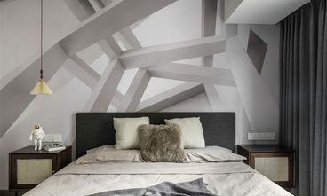 富裕型90平米三室一厅混搭风格卧室装修图片大全