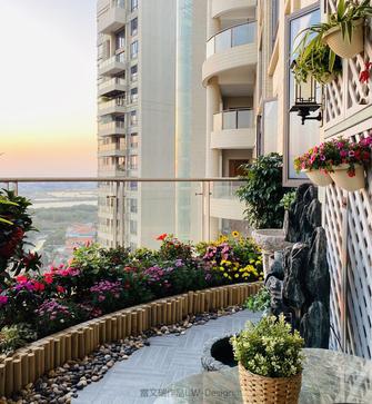 140平米三中式风格阳台欣赏图