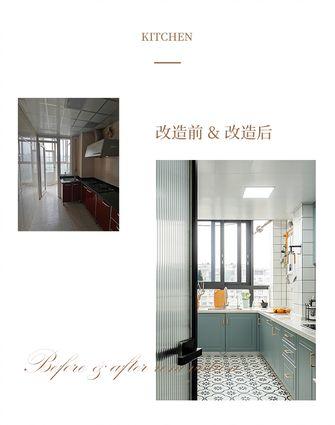 20万以上90平米三室两厅混搭风格厨房图