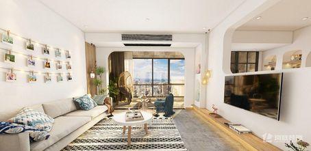 富裕型90平米三室两厅日式风格客厅效果图