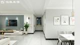 140平米三室两厅现代简约风格走廊效果图