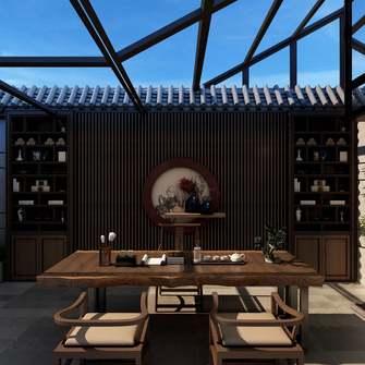 20万以上140平米三室一厅中式风格阳光房图片大全