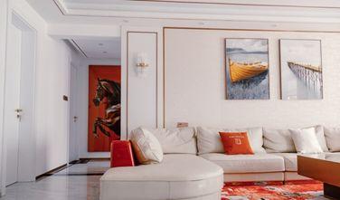 富裕型100平米三室一厅现代简约风格客厅图片大全