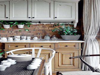富裕型110平米三室一厅美式风格阳光房设计图