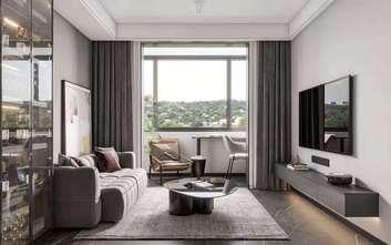 5-10万30平米小户型现代简约风格客厅图片