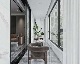 20万以上140平米三室一厅中式风格阳台图片大全