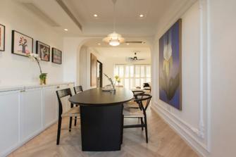 20万以上140平米三室一厅法式风格餐厅效果图
