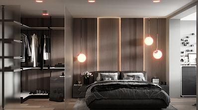 富裕型140平米三美式风格卧室装修案例