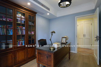 140平米四室一厅美式风格书房图片大全
