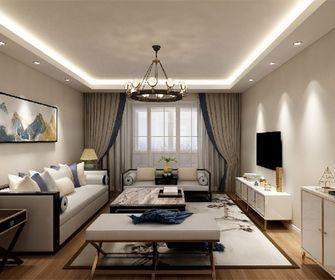 120平米三室一厅混搭风格客厅图片大全
