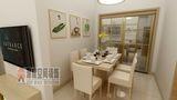 3-5万80平米三室两厅现代简约风格餐厅装修图片大全