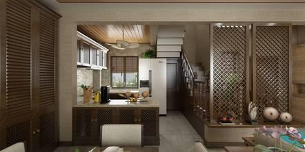 豪华型140平米别墅东南亚风格厨房装修案例