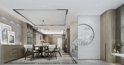 20万以上140平米复式新古典风格餐厅欣赏图