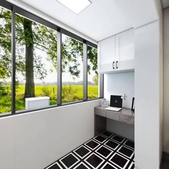 经济型40平米小户型北欧风格阳台装修案例