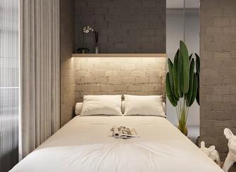 经济型50平米公寓现代简约风格卧室图片大全