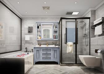 豪华型140平米三室一厅美式风格卫生间图片大全