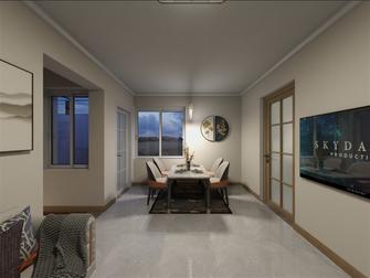 富裕型50平米公寓现代简约风格客厅装修案例
