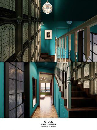 富裕型90平米复式新古典风格楼梯间装修案例