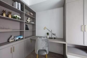 富裕型110平米三室两厅轻奢风格书房图片大全