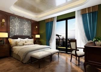 豪华型110平米美式风格卧室图